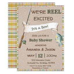 Fishing Invitations Boy Baby Shower Invitations