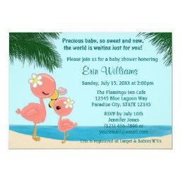 Flamingo Baby Shower  Mommy Kiss