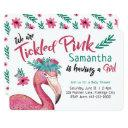 Flamingo Tickled Pink Baby Shower Invitation