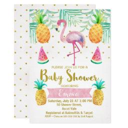 Flamingo Watercolor Baby Shower