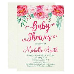 Floral Baby Shower , Baby Shower Invite