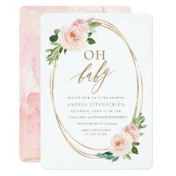 Floral Baby Shower Invitation Girl
