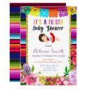 Floral Fiesta Baby Shower Festive Invitations Girl