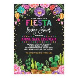 Floral Fiesta Baby Shower Mexican Flowers Invite