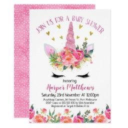 Floral Unicorn Baby Shower