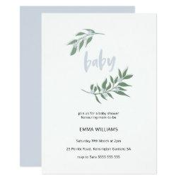 Floral Wreath Baby Shower  | Blue