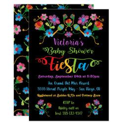 Folk Art Embroidery Mexican Fiesta Baby Shower