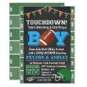 Football Baby Shower Chalkboard Invitation