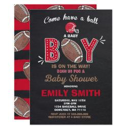 Football Baby Shower Invitation Sport Baby Shower