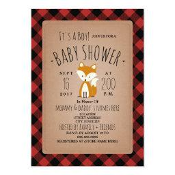 Fox Lumberjack Plaid Baby Shower