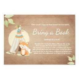 Fox Teepee Bring a book  Woodland Baby Shower