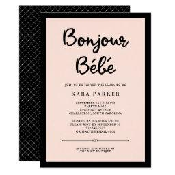 French Couture | Black And Pink Baby Shower Invitations