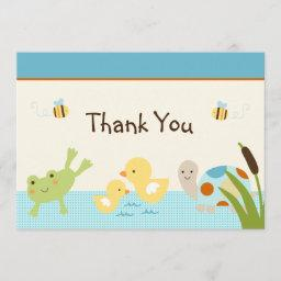 Frog In the Pond/Turtle Baby Shower Thank You