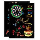 Funny Daddy To Be Shower - Darts And Farts Invitation