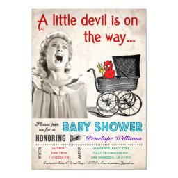 Funny Devil Baby Shower