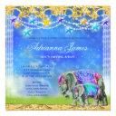 Gc Magical Asian Elephant Baby Boy Invitation