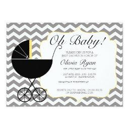 Gender Neutral Chevron Pram Baby Shower