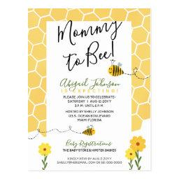 Gender-neutral Honeycomb Mommy To Bee Baby Shower Postinvitations