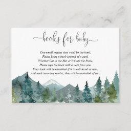 Gender Neutral Rustic Forest Book Instead Of Invitations