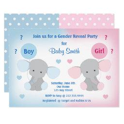 Gender Reveal Baby Shower  Elephant