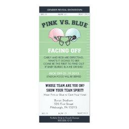 Gender Reveal Football Ticket Baby Shower Invitati