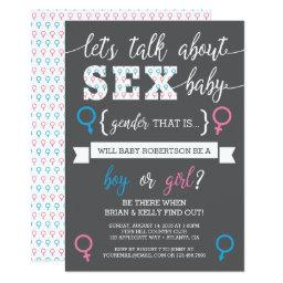 Gender Reveal Invitation, Let's Talk About Gender