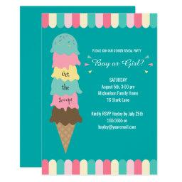 Gender Reveal Party Heres the Scoop Ice Cream Teal