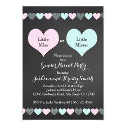 Gender Reveal Party  Hearts