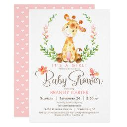 Giraffe Baby Shower, Girl