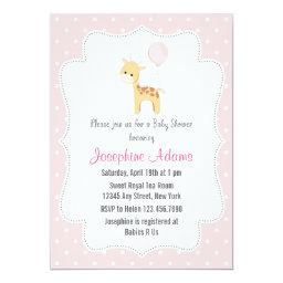 Giraffe Baby Shower Invitations BabyShowerInvitations4U
