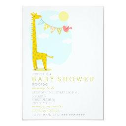 Giraffe  Bird Neutral Baby Shower