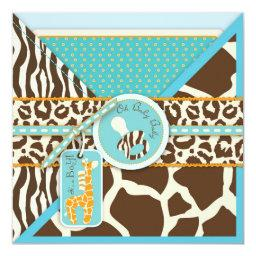 Giraffe & Pacifier Safari Animal Print