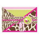 Giraffe & Pacifier Safari Animal Print Baby Shower Invitations