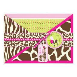 Giraffe & Pacifier Safari Animal Print Baby Shower