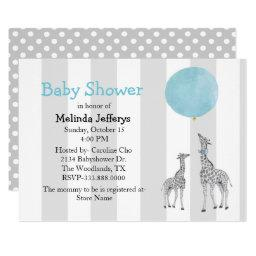 Giraffes With Balloon Baby Shower