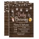 Girl Babyq Invitation Coed Bbq Baby Brewing Invite
