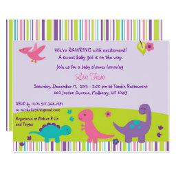 Girl Dinosaur Baby Shower