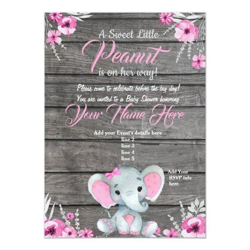 Elephant Baby Shower Invitations Babyshowerinvitations4u