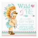 Girls Boho Tribal Baby Shower Invitation