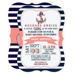 Girl's Nautical Anchor Baby Shower