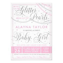 Glitter And Pearls Baby Shower , Pink