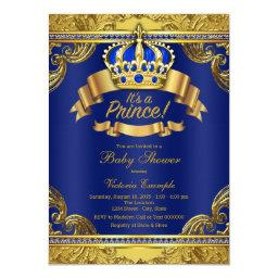Gold Crown Royal Blue Prince Boy Baby Shower