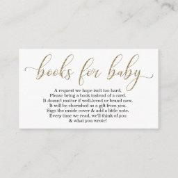 Gold Glitter Book Request - Baby Shower