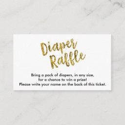 Gold Glitter Diaper Raffle Ticket Enclosure