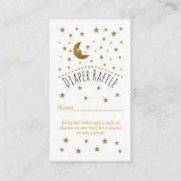 Gold Moon & Stars  Diaper Raffle Ticket Enclosure