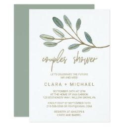 Gold Veined Eucalyptus Couples Shower
