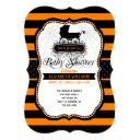 Gothic Halloween Baby Shower Invitations