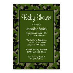 Green and Black Camo Baby Shower
