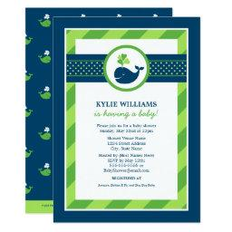 Green Baby Shower  | Navy Nautical Whale