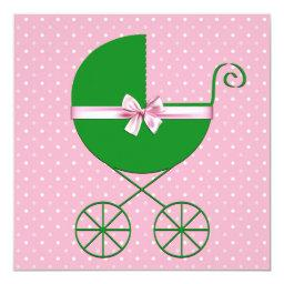 Green Carriage and Pink Polka Dot